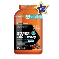 NAMED SPORT SUPER100% WHEY PROTEIN .PACK 2 BOTES